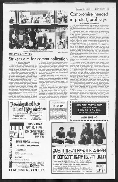 Daily Trojan, Vol. 61, No. 120, May 07, 1970