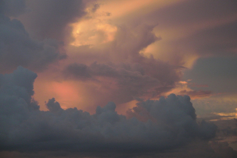 Orange clouds forming above Patong in sunset - Phuket, Thailand