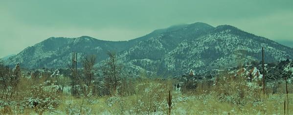 Colorado in the winter.