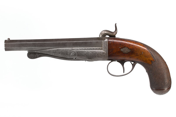 Casimir Lefaucheux's first pinfire pistol