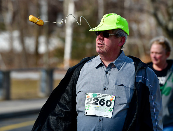 3/16/2019 MIke Orazzi | Staff Eric Carlson during the 2 Mile Run and the 2 Mile Fitness Walk at the 17th Annual Shamrock Run & Walk at Chippens Hill Middle School on Saturday in Bristol.
