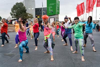Discoyoga Flashmob
