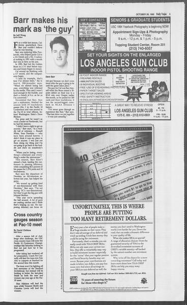 Daily Trojan, Vol. 121, No. 43, October 29, 1993
