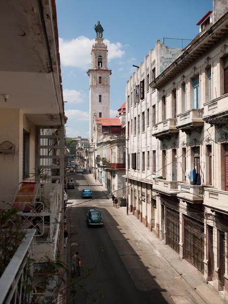 Looking towards Vadado from the balcony.