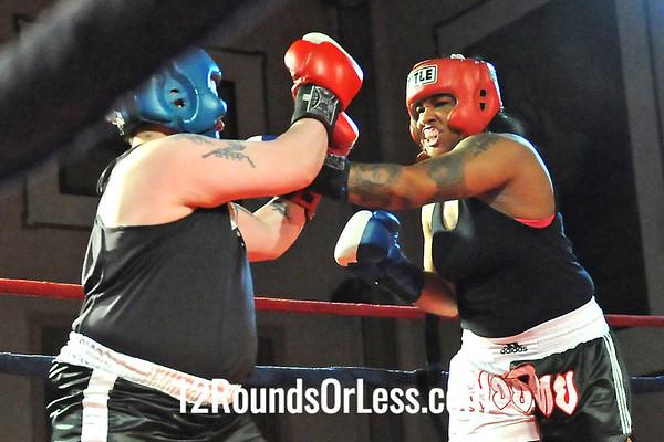 Bout 12 Chanelle Kazadi, Brickhouse Boxing -vs- Melissa Dibilasi, Rob Berto's BC, Lyndhurst,  178+ lbs, Sub-Novice