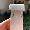 4.20ctw Blue Zircon Dangle Earrings 2