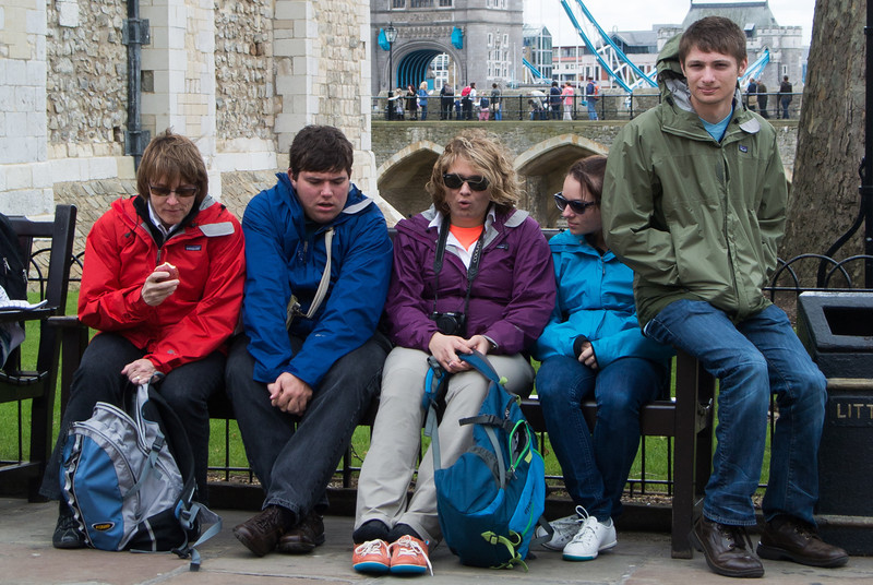 There were many midevil beheadings at the Tower of London.  We got out with our heads.