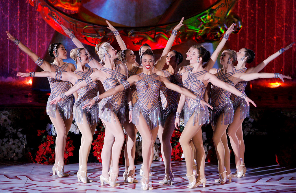 . The Radio City Rockettes perform during the 75th Rockefeller Center tree lighting ceremony Wednesday, Nov. 28,2007 in New York.(AP Photo/Julie Jacobson)