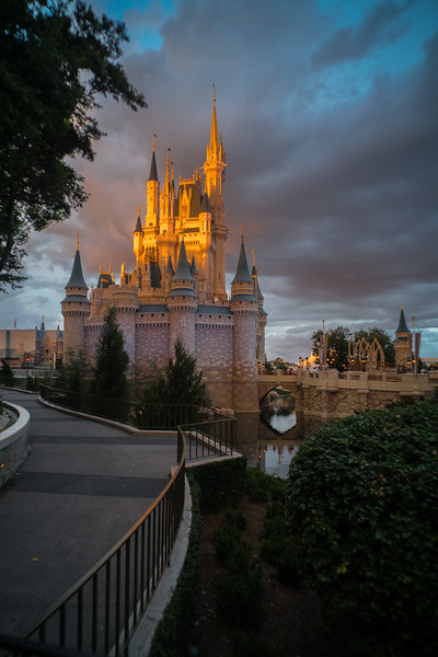 Cinderella's Castle at Magic Hour