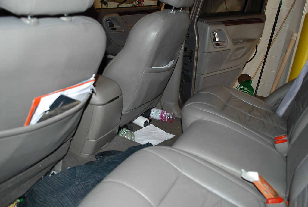 . The backseat of Austin Sigg\'s Jeep. Sigg waited in the back seat of the Jeep before he kidnapped Jessica Ridgeway on Oct. 5, 2012. He pleaded guilty to her kidnapping and death almost a year later. Provided by Jefferson County District Attorney\'s Office