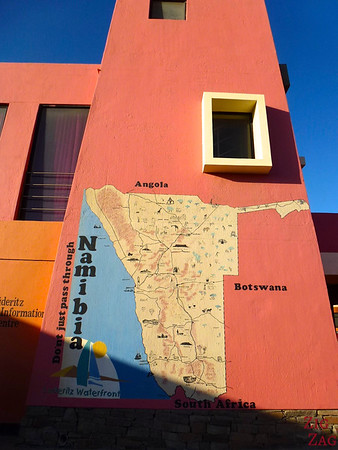 Namibia Map in Luderitz, Namibia