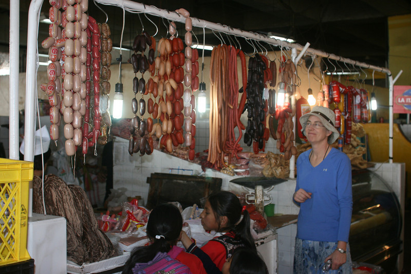 Sausages at the market in Quito