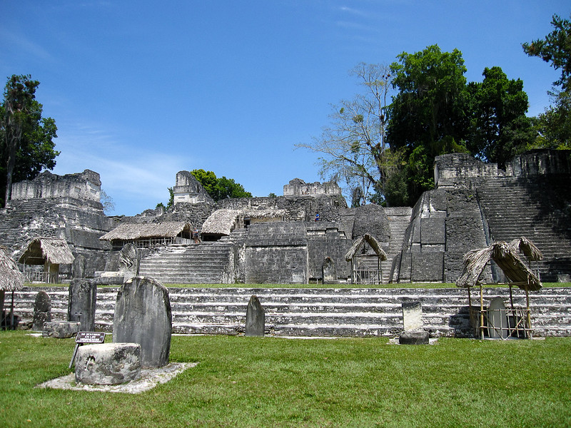 The Grand Plaza complex of temples in Tikal