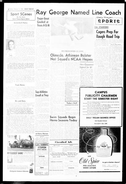 Daily Trojan, Vol. 49, No. 63, February 11, 1958