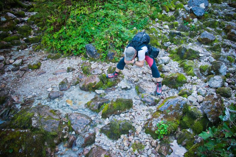 Steyr-Ursprung (da, wo der Paul grad trinkt, fängt das Wasser plötzlich an) :-)