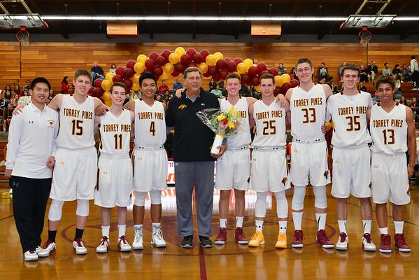TP Boys BB Senior Night, 2-19-16