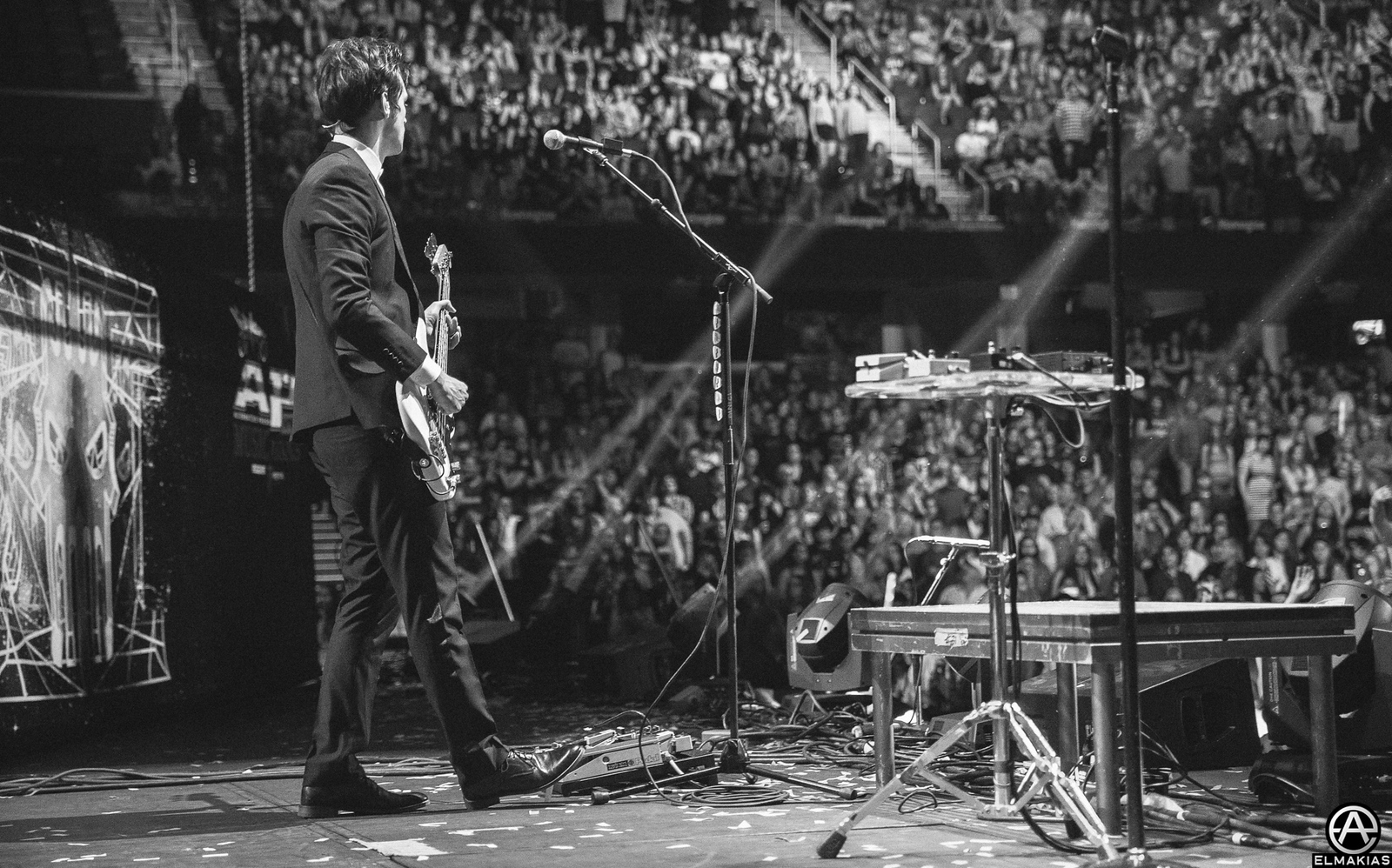 Dallon Weekes of Panic! At The Disco performing live at the Alternative Press Music Awards 2015 by Adam Elmakias