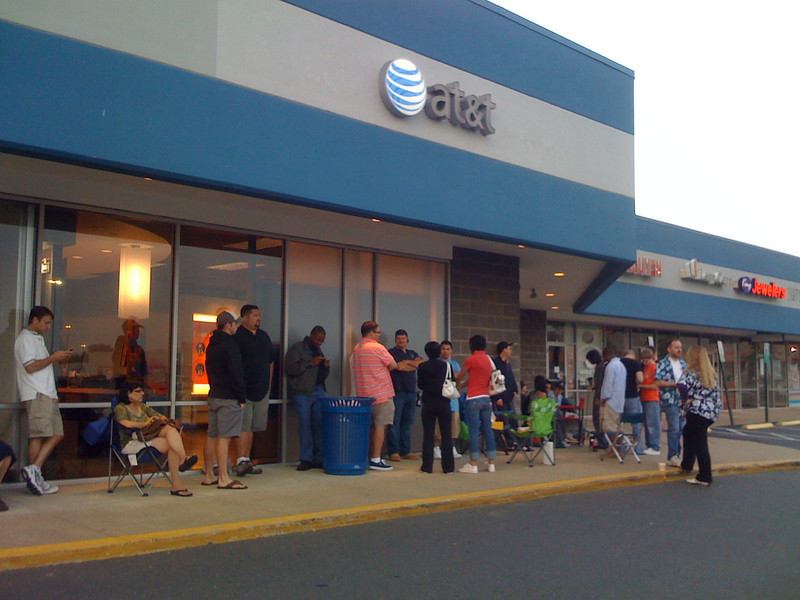 in line for iphone 3g