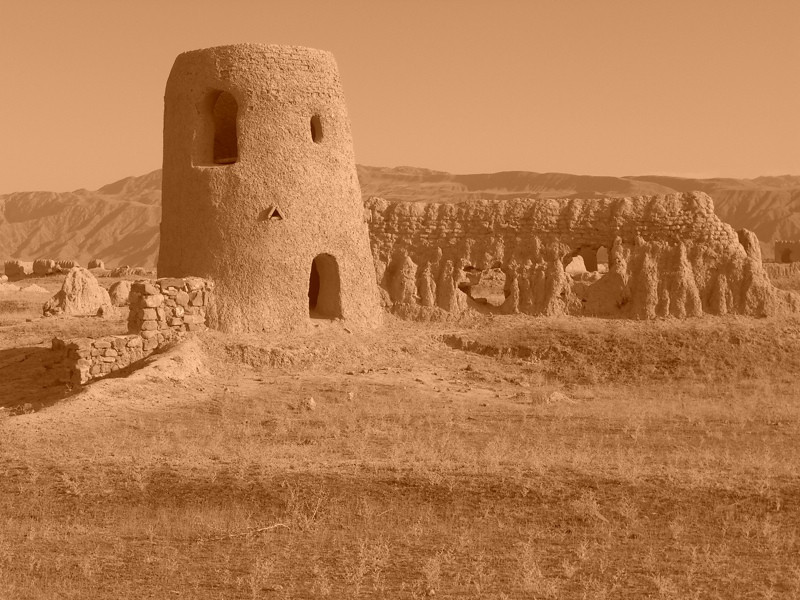 Tower Made from Mud - Murche, Turkmenistan