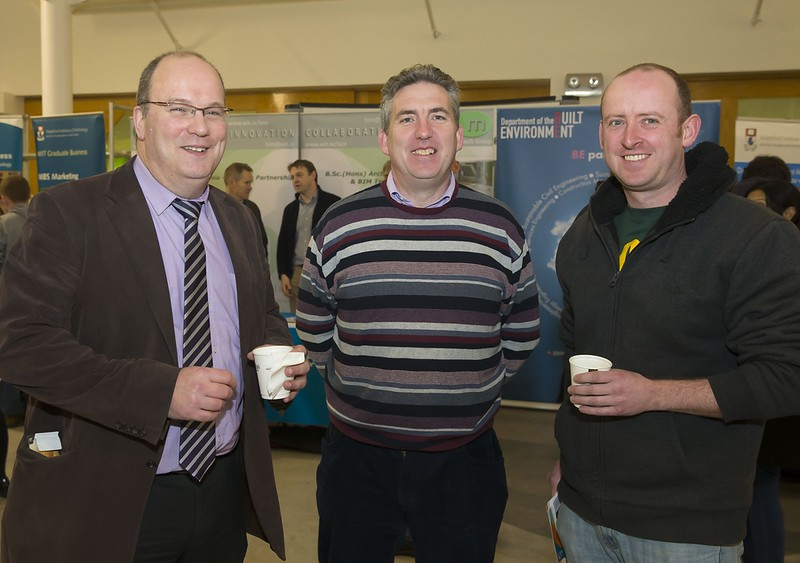 23/02/2016. Free To Use Image. Pictured at WIT (Waterford Institute Of Technology) Adult Learner Information Evening are Ken McCarthy WIT, John Wall WIT and Graham Murphy, Monkstown, Cork. Picture: Patrick Browne