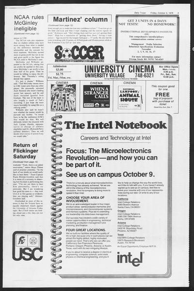 Daily Trojan, Vol. 87, No. 15, October 05, 1979