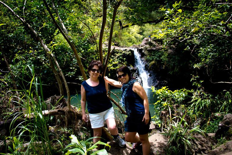 road to hana me mom waterfall.jpg