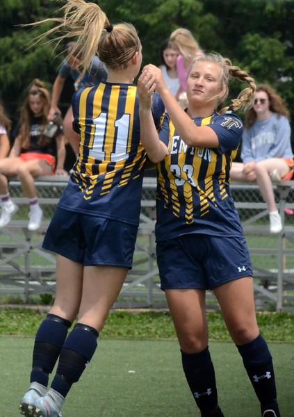 Birmingham Marian defeated Trenton in a D2 girls soccer regional final at Marian on Thursday afternoon, 5-0. (Digital First Media photo gallery by Drew Ellis)