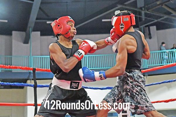 Bout 6 Steve Cunningham, Blue Gloves, Pittsburgh -vs- Jasir Riley, Red Gloves, Cleveland, 134 Lbs
