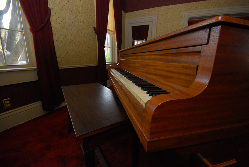 The piano needs a little tune-up.