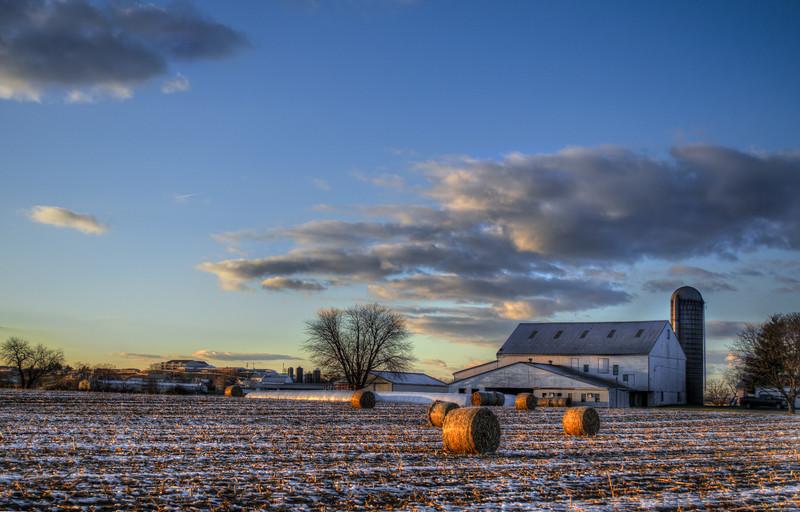 snow - hay bales and farm wissler road(p).jpg