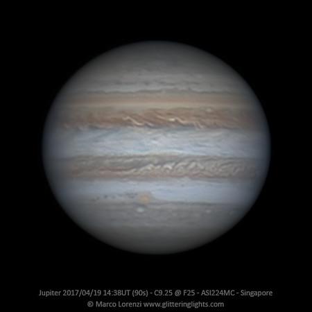 Jupiter April 19, 2017 - 14:38 UT