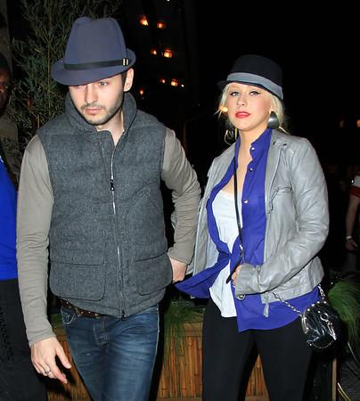 2011-05-09 - Christina Aguilera and Matt Rutler