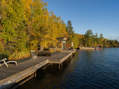 OUR COTTAGE AND DOCK in COLOUR