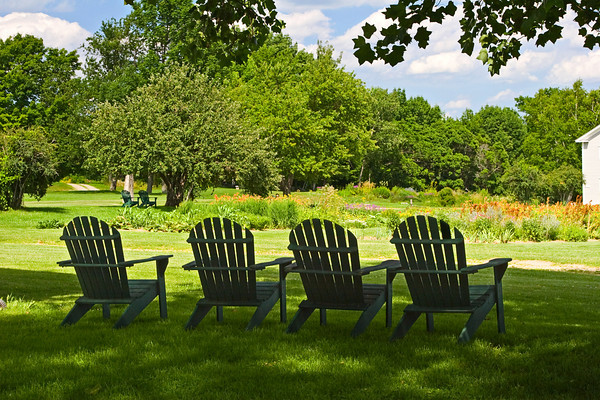 Adirondack Chairs on a Summer Afternoon