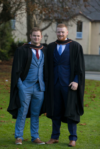 01/11/2017. Waterford Institute of Technology Conferring. Pictured are Dean Murphy from Clonroche and Brian Prendergast from Clara, Kilkenny who graduated Bachelor of Engineering Hons.  Picture: Patrick Browne