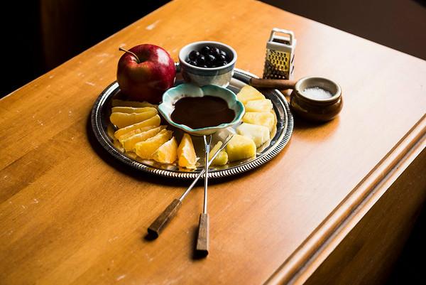 DAVID LIPNOWSKI / WINNIPEG FREE PRESS  Dark Chocolate Coconut Bliss Fondue  Photographed for Wendy King column Monday February 6, 2017.