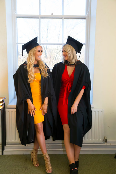 01/11/2018. Waterford Institute of Technology (WIT) Conferring Ceremonies 2018. Pictured are Alison Deegan, Laois and Nicole Drohan, Waterford. Picture: Patrick Browne