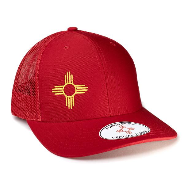 Outdoor Apparel - Organ Mountain Outfitters - Hat - Zia Sun Symbol Trucker Cap Red.jpg