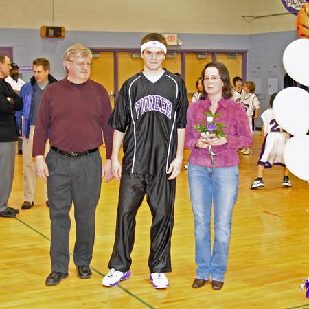 2007 Pioneer basketball Senior Night