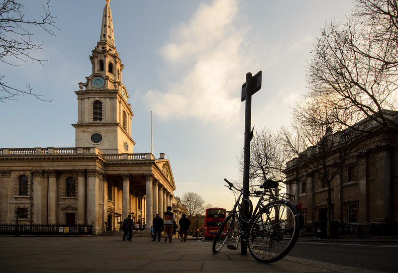 St Martin in the fields church and Charing Cross Road