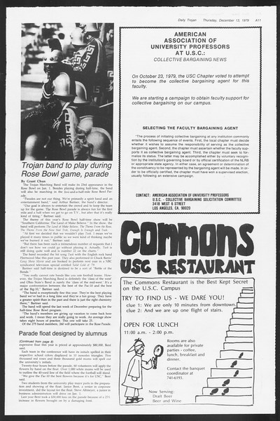 Daily Trojan, Vol. 87, No. 59, December 13, 1979