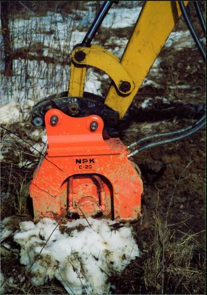 NPK C2D compactor on Cat mini excavator (5).JPG