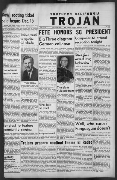 The Trojan, Vol. 35, No. 57, December 03, 1943