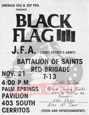 Black Flag - JFA - Battalion of Saints - Red Brigade
