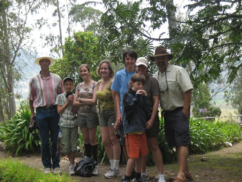 2007-02-24-0016-Galapagos with Hahns-Day 8, Otavalo-Hacienda-Curtis-Elaine-Audrey-Debby-Evan-Jeremy-ElaineH-Eric.JPG