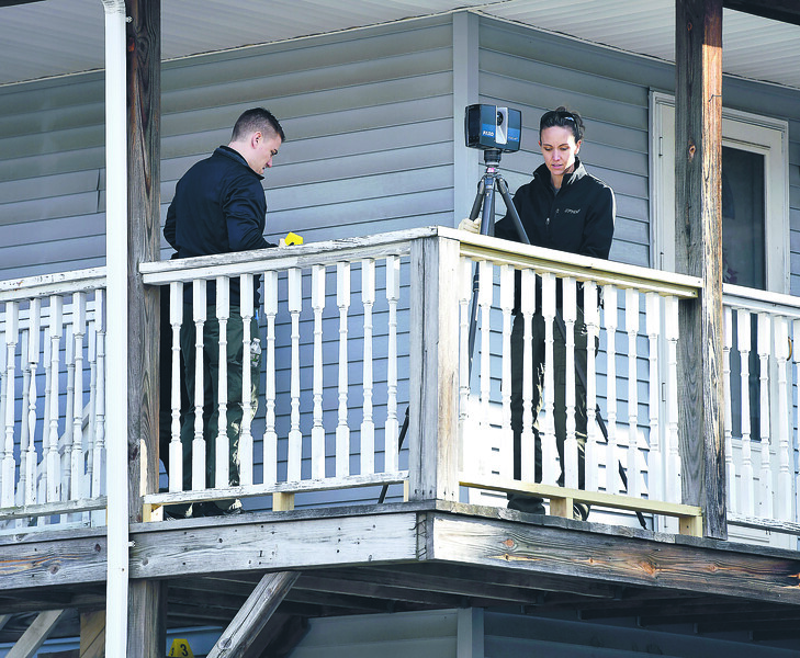 1/8/2020 Mike Orazzi | Staff Bristol and state police while investigating after a woman was fatally stabbed on Pardee Street late Tuesday night. The suspect walked into the Bristol Police station covered in blood stating that he had just stabbed his wire.
