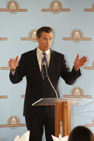 Gavin Newsom at the Sacramento Press Club luncheon 10 19 16