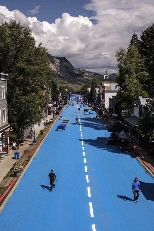 . Bud Light transformed a town into Whatever, USA, a place full of unique experiences to reward consumers who are #UpForWhatever on September 5, 2014 in Crested Butte, Colorado. (Photo by Nick Tininenko/Getty Images for Bud Light)