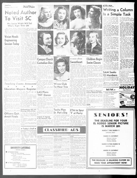Daily Trojan, Vol. 40, No. 93, March 08, 1949