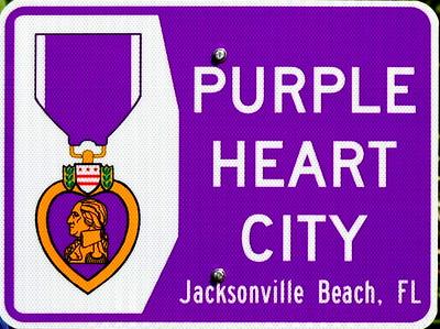 Purple Heart Ceremony at Park